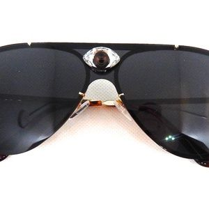 GASOLINE GLAMOUR Accessories - PANTHER POWER TIGER EYE AVIATOR GLASSES NEW
